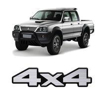 Adesivo 4x4 Mitsubishi L200 Sport Resinado Aço Escovado - Sportinox
