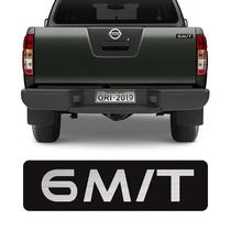 Adesivo 6 M/T Nissan Frontier 08/15 Emblema Tampa Traseira - Sportinox