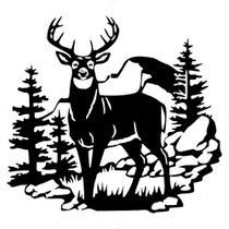 Adesivo 88x83cm - Christmas Natal Reindeer Rena Mountains Tr REF: ADE3095 - Nebula Decor