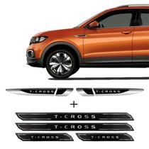 Adesivo Aplique Lateral T-Cross 2020 e Soleira Protetora - Sportinox