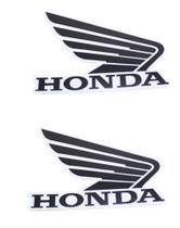 Adesivo Asa Tanque Moto Honda Preto Branco Asa Honda - Lww Motopecas