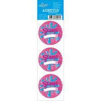 Adesivo Autocolante Litoarte Slime Glitter com 3 unidades ASL5-007 -