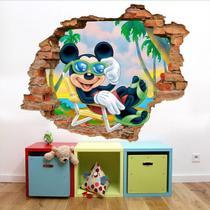 Adesivo Buraco Furo Na Parede Mickey (90x75)cm - Sua casa personalizada