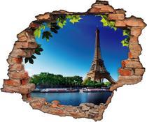 Adesivo Buraco Furo Na Parede Torre Paris (90x75)cm - Sua casa personalizada
