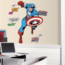 Adesivo Capitão América Clássico dos Quadrinhos Gigante RMK3254GM - Marvel