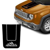 Adesivo Capô Jeep Renegade 2015/19 Montanha Acessório Preto - Sportinox