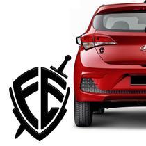 Adesivo Cristão Escudo Da Fé Resinado Para Carro Notebook - Sportinox