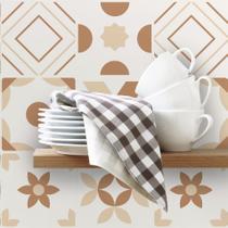 Adesivo de Azulejo 20x20 para Cozinha Marrom Mocha 24un - Quartinhos