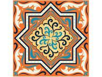 Adesivo de Azulejo Abstrato PVC Adesif N1905769 - 15x15cm 8 Unidades