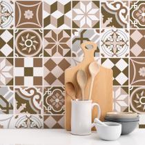 Adesivo de Azulejo Cozinha Geométrico 10x10cm 100un - Quartinhos