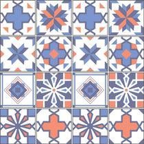 Adesivo de Azulejo - Ladrilho Hidráulico - 15cm x 15cm - 16un - 331Azme - Allodi