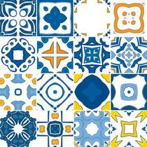 Adesivo de Azulejo - Ladrilho Hidráulico - 15cm x 15cm - 16un - 380Azme - Allodi