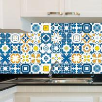 Adesivo de Azulejo - Ladrilho Hidráulico - 15cm x 15cm - 24un - 012Azpe - Allodi