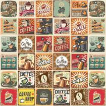 Adesivo de Azulejo Vintage Coffee Cozinha 10x10cm 100un - Quartinhos