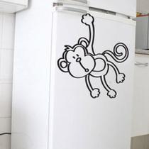 Adesivo de Geladeira Macaco Quer Banana - Meu Adesivo