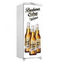 Adesivo De Geladeira Porta Cerveja Brahma Extra Weiss 3 Garrafas - 180x65cm - Sunset Shop