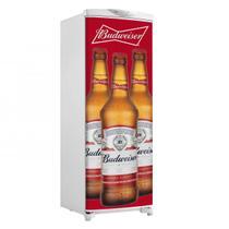 Adesivo De Geladeira Porta Cerveja Budweiser 3 Garrafas Branco - 180x65cm - Sunset Shop