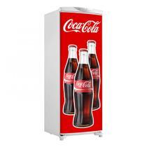 Adesivo De Geladeira Porta Três Garrafas Coca Cola Logo 150X60cm - Sunset Adesivos