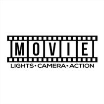 Adesivo de Parede 29x80cm - Movie Lights Camera Action Cinem REF: ADE1323 - Nebula Decor