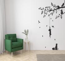 Adesivo de parede Arvore e Animais - Luc Comunicação -