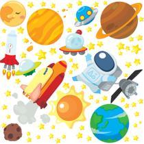 Adesivo de Parede Astronauta no Espaço para Quarto Infantil - Quartinhos