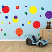 Adesivo de Parede Bolas Coloridas - Quartinhos