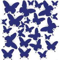 Adesivo de Parede Borboletas Azuis para Quarto Infantil - Quartinhos