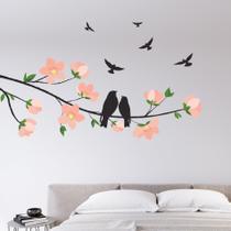 Adesivo de Parede Cerejeira e Pássaros - Quartinhos