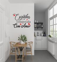 Adesivo de Parede Cozinha Temperada - 50 x 39 cm - Lojinha Da Luc