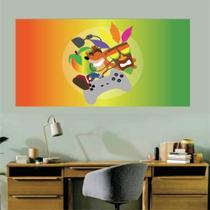 Adesivo de Parede Crash Bandicoot tamanho 70cm x 45cm Mod02 - Sempre Viva Home Decor