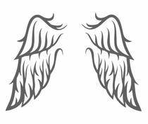 Adesivo De Parede Decorativo Asas Anjo Guarda Criança Pena - Aartedecor