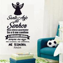 Adesivo de Parede Decorativo Oração Santo Anjo do Senhor 039 - V3 Shop