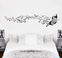 Adesivo De Parede Decorativos Borboleta com nota musical com 2 metros - Gaudesivos