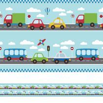 Adesivo de Parede Faixa Decorativa Infantil Carros 6m x 15cm - Quartinhos