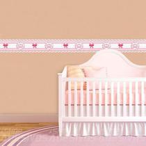 Adesivo De Parede Faixa Decorativa Para Quarto Infantil Coroa Floral 15x100 - Decore Fácil Shop