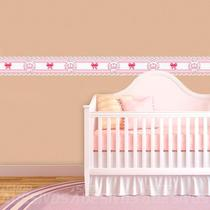 Adesivo de Parede Faixa Decorativa Para Quarto Infantil Coroa Floral 15x100 - Decore Fácil