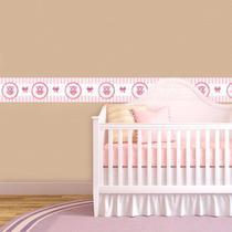 Adesivo de Parede Faixa Decorativa Para Quarto Infantil Corujinha - Decore fácil