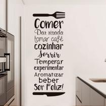 Adesivo de Parede Frase Decorativa Cozinha - Kanto store