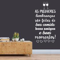 Adesivo De Parede Frase Lembranças Amigos Comida Momentos - Kanto Store