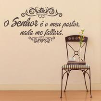 Adesivo de Parede Frases Salmo 23 - Marrom - Arte De Colar Adesivos