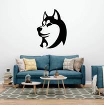 Adesivo De Parede Husk Siberiano - Silhueta de cachorro - Ra Personalize