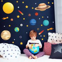 Adesivo de Parede Infantil Espaço Sistema Solar - Quartinhos