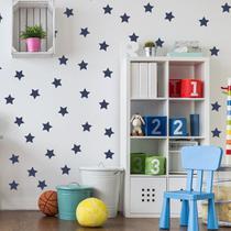Adesivo de Parede Infantil Estrelas Azul Marinho - Quartinhos