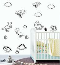 Adesivo de Parede Infantil  miniatura de Dinossauros - Ra Personalize