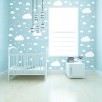 Adesivo de Parede Infantil Nuvens Brancas 64un - Quartinhos