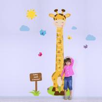Adesivo de Parede Infantil Régua Girafa e Borboletas - Quartinhos
