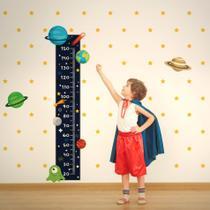 Adesivo de Parede Infantil Régua Sistema Solar - Quartinhos