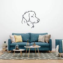 Adesivo De Parede Labrador - Silhueta de cachorro - Ra Personalize