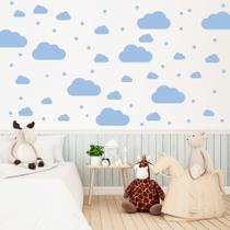 Adesivo de Parede Nuvens Azul 64 un para Quarto Infantil - Quartinhos