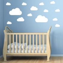 Adesivo de Parede Nuvens Brancas para Quarto Infantil - Quartinhos